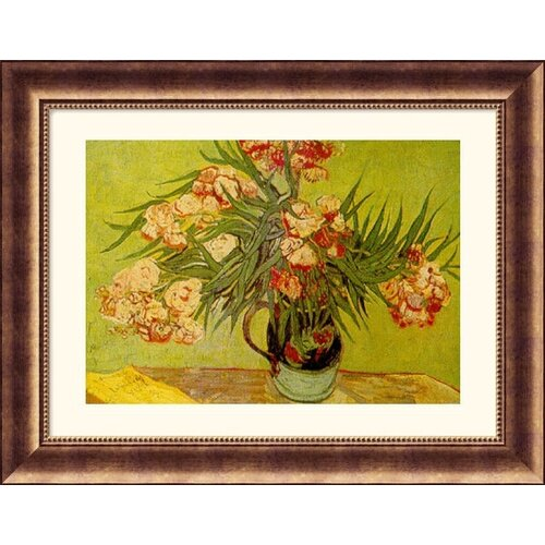 Museum Reproductions Vases de Fleurs (Vases of Flowers) by Vincent Van Gogh Framed Painting ...