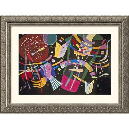 Great American Picture Museum Reproductions 'Composition X' by Wassily Kandinsky Framed Painting Print
