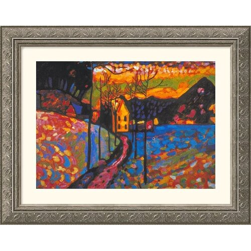 Great American Picture Museum Reproductions 'Untitled' by Wassily Kandinsky Framed Painting Print