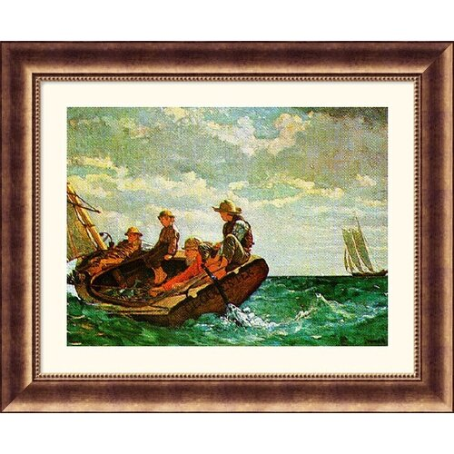Great American Picture Museum Reproductions Breezing Up by Winslow Homer Framed Painting Print