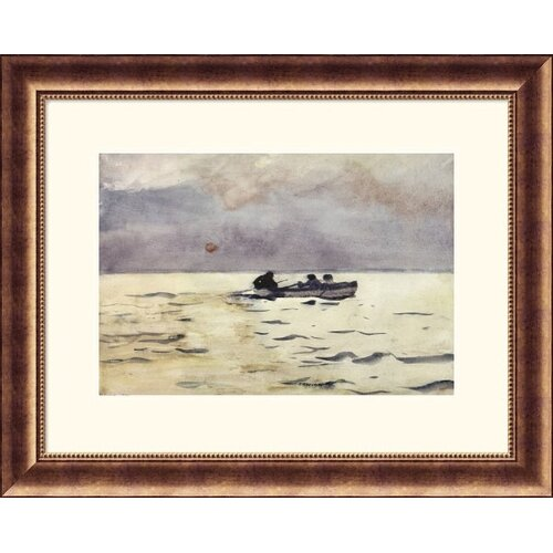 Great American Picture Museum Reproductions 'Rowing Home' by Winslow Homer Framed Painting Print
