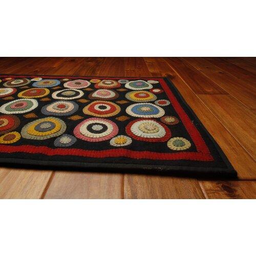 homespice decor penny coin black area rug reviews wayfair. Black Bedroom Furniture Sets. Home Design Ideas