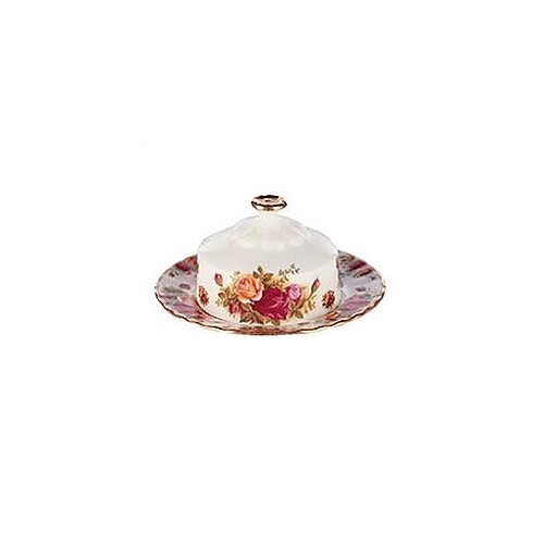 Royal Albert Old Country Roses Butter Dish