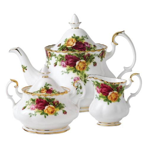 Royal Albert Old Country Roses 3 Piece Tea Set