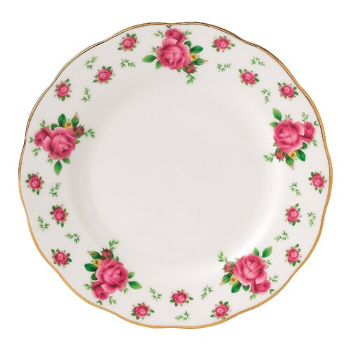 """Royal Albert New Country Roses Formal Vintage 6.4"""" Bread and Butter Plate"""