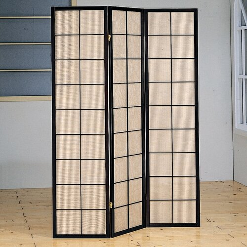"Wildon Home ® 70.25"" x 52"" Harbor Folding 3 Panel Room Divider"