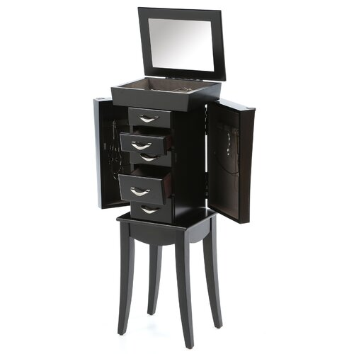 Wildon Home ® London 5 Drawer Jewelry Armoire with Mirror