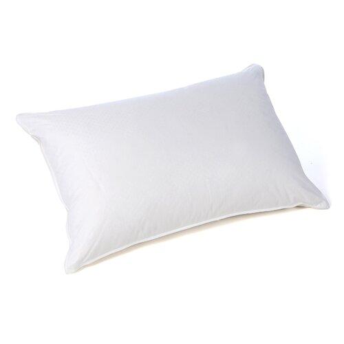 Wildon Home ® Polka Dot Soft Cotton Goose Down Pillow in White