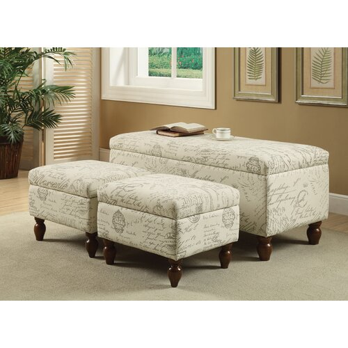 Wildon Home Upholstered Storage Bedroom Bench: Kosas Home Clifton Upholstered Storage Bedroom Bench