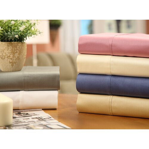 Wildon Home ® 400 Thread Count Sateen Solid Combed Cotton Sheet Set
