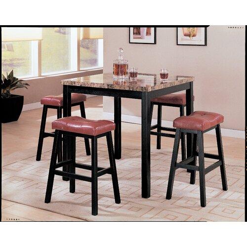 Wildon Home ® 5 Piece Counter Height Dining Set