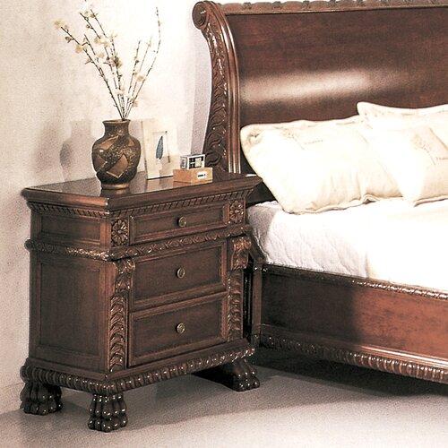 Wildon Home ® Bailey 3 Drawer Nightstand