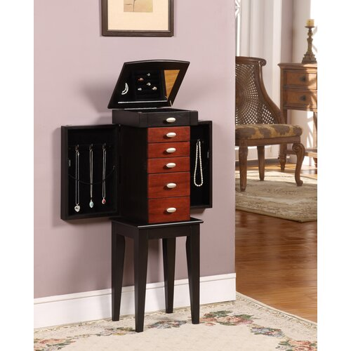 Wildon Home ® Sumba Yang 5 Drawer Jewelry Armoire with Mirror