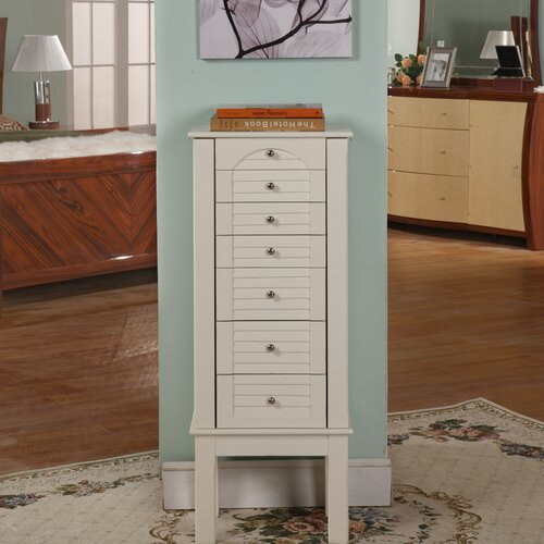 Wildon Home ® Wyn 6 Drawer Jewelry Armoire with Mirror