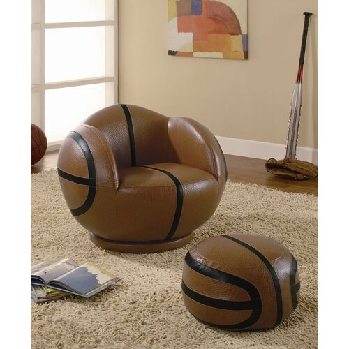 Wildon Home ® Kid's Basketball Chair and Ottoman