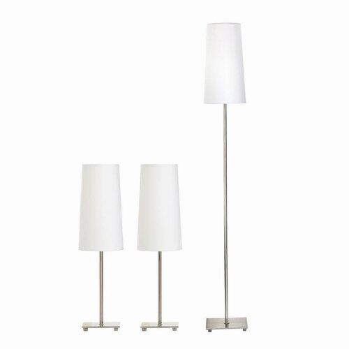 "Wildon Home ® Throckmorton 3 Piece 59"" H Table Lamp Set with Empire Shade"