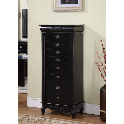 Wildon Home ® Moser 8 Drawer Jewelry Armoire with Mirror
