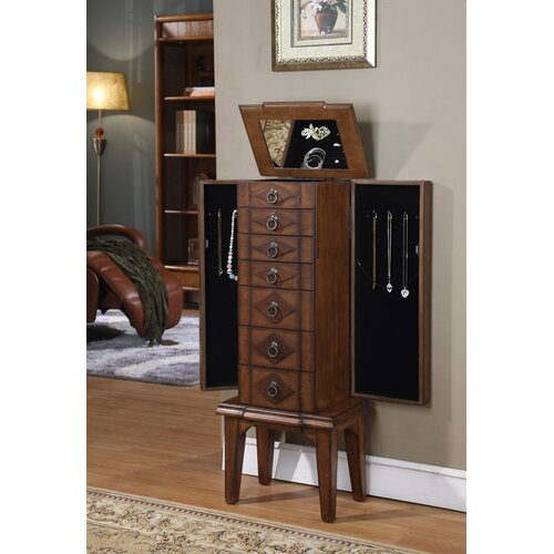 Wildon Home ® Canen Jewelry Armoire with Mirror