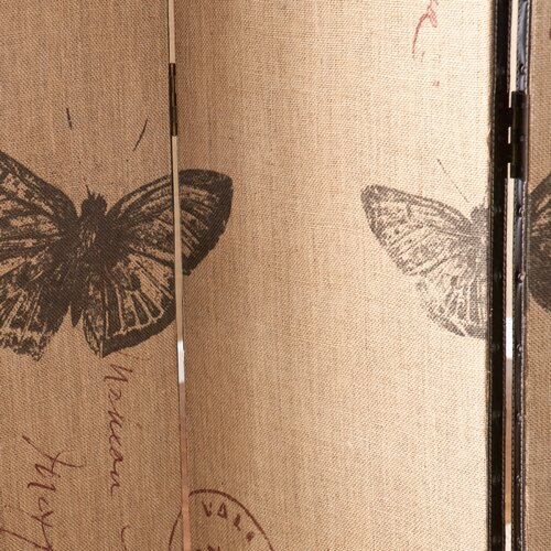 "Wildon Home ® 69.25"" x 47.75"" Vasilis Vintage Butterfly 3 Panel Room Divider"