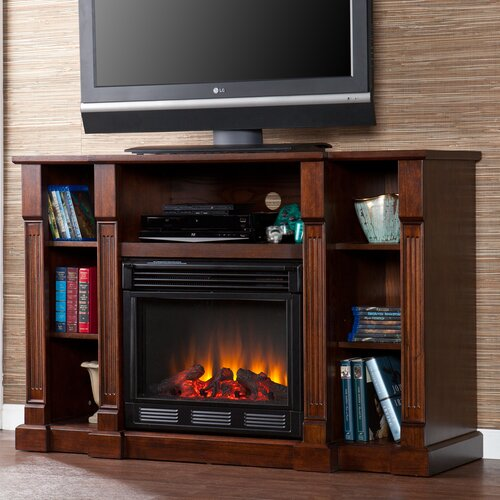 "Wildon Home ® Caswell 52"" TV Stand with Electric Fireplace"