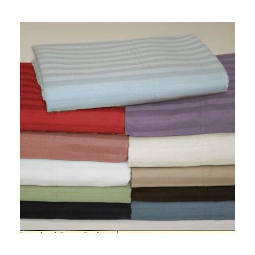 Wildon Home ® Wrinkle Resistant 300 Thread Count Woven Stripe Sheet Set