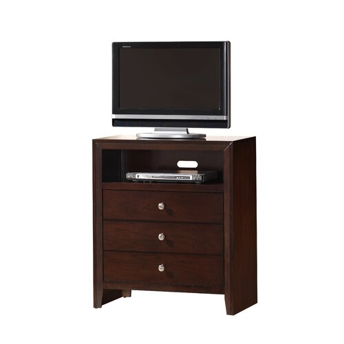 Wildon Home ® Carolina 3 Drawer Media Chest