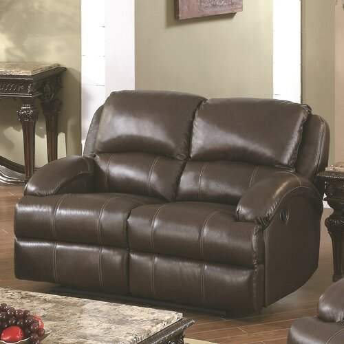 Wildon Home ® Capri Leather Reclining Loveseat