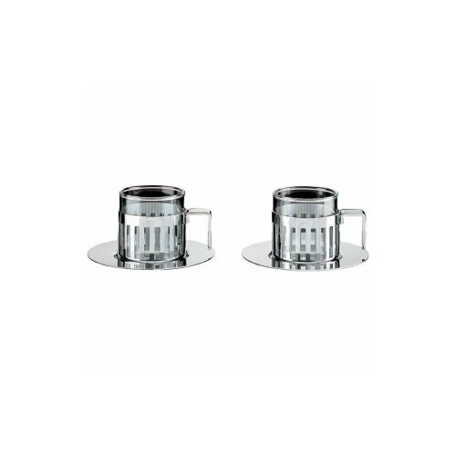 Alessi Aldo Rossi 4.2 oz. Mocha Cups with Saucer