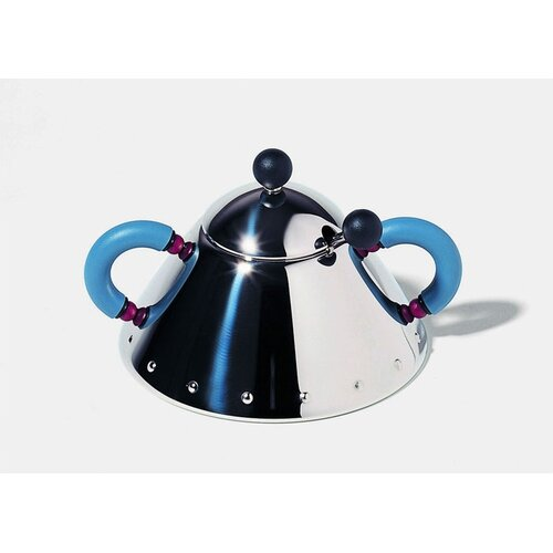 Alessi 9097 Sugar Bowl with Spoon by Michael Graves,1988