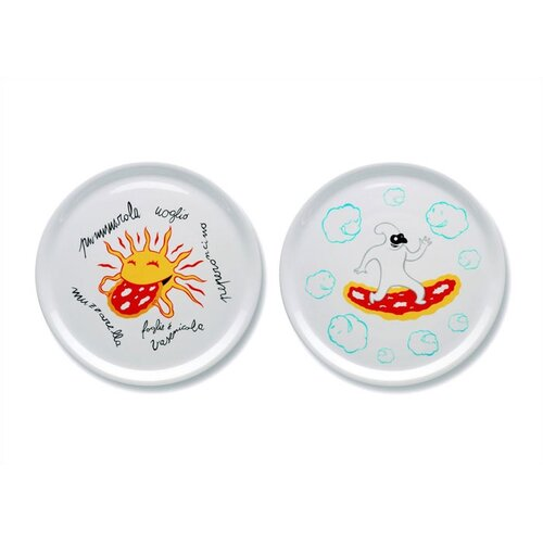"""Alessi A du Alessi - Dream Factory 12.2"""" Pizza Plates by Massimo Giacon"""