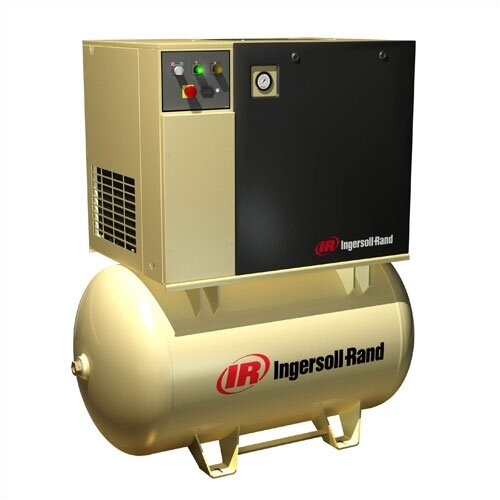 Ingersoll Rand 7.5 HP, 150 PSI, 25 CFM, 120 Gallon, 3 Phase Rotary Screw Air Compressor