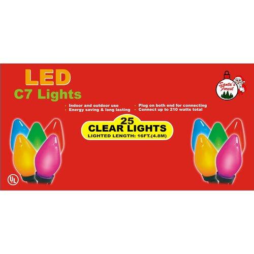 25 LED C7 Christmas Tree Lights (Set of 24)