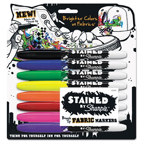 Stained Permanent Fabric Marker (8 Pack)