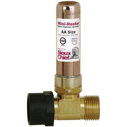SiouxChief Mini Rester Residential Water Hammer Arrester Tee