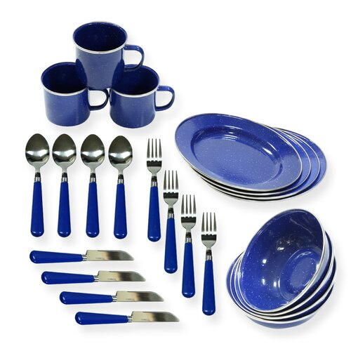 24-Piece Camping Tableware Set