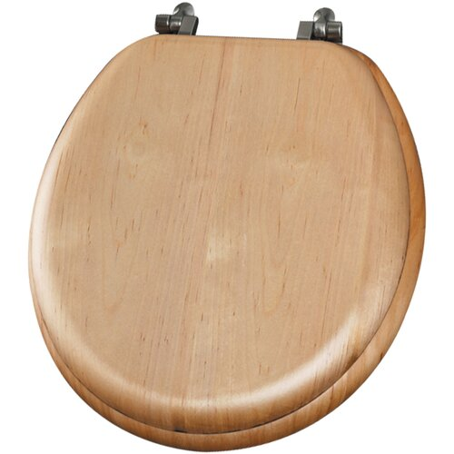 Natural Reflections Wood Veneer Round Toilet Seat
