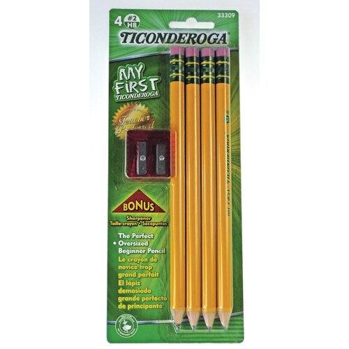 Ticonderoga Large Size Pencil Kit with Sharpener