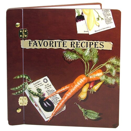 Lexington Studios Home and Garden Favorite Veggies Recipe Book Photo Album