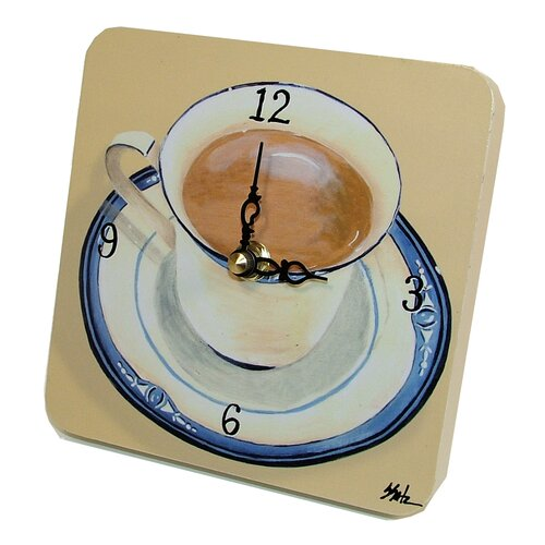 Home and Garden Coffee Cup Tiny Times Clock