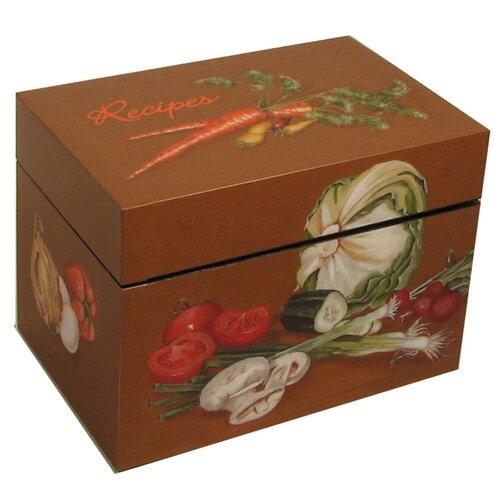 Veggies Recipe Large Index Box