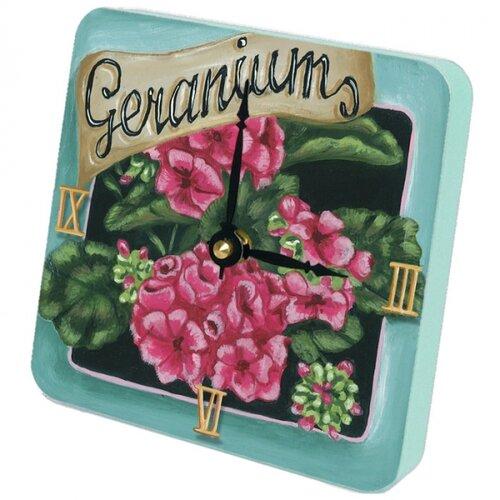 Lexington Studios Geraniums Tiny Times Clock