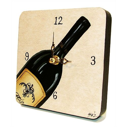 Lexington Studios Home and Garden Bottle of Red Tiny Times Clock
