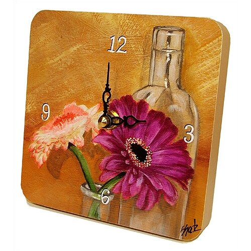 Home and Garden Gerber Daisies Tiny Times Clock