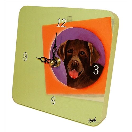 Animals Chocolate Lab Tiny Times Clock
