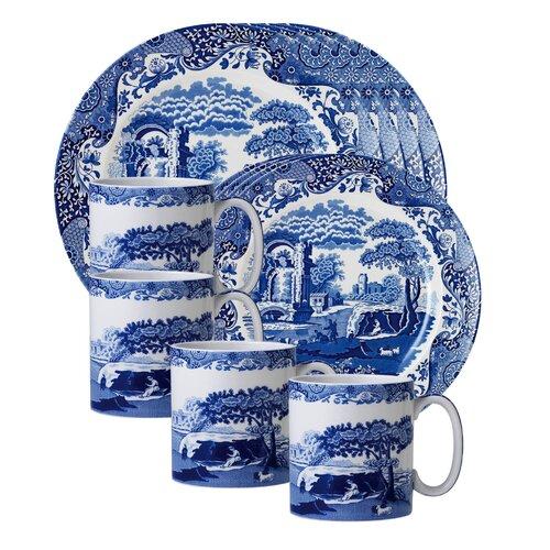 Blue Italian 12 Piece Dinnerware Set