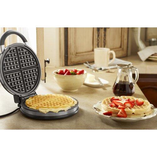 Calphalon Kitchen Electrics No Peek Round Waffle Maker