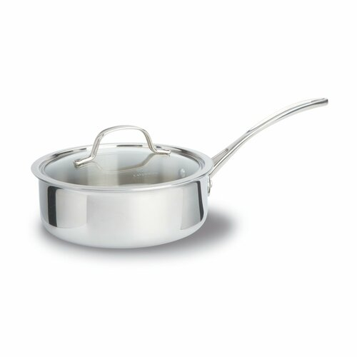 Tri-Ply Stainless Steel 2.5-qt. Saucier with Lid