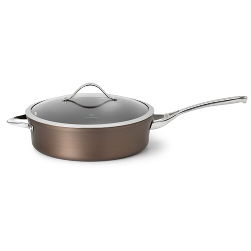 Calphalon Contemporary Nonstick Bronze Saute Pan with Lid