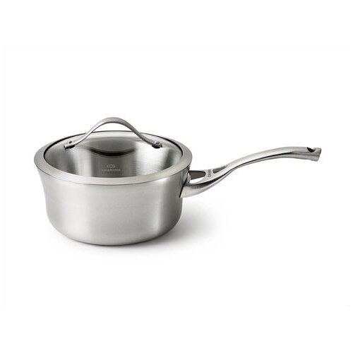 Contemporary Stainless Steel Saucepan with Lid
