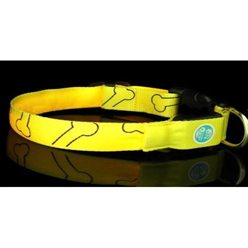 LED Green Paw Print Flash Collar